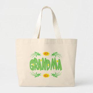 Camisetas y regalos de la abuela para ella bolsa tela grande