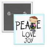 Camisetas y regalos de la alegría del amor de la p pins