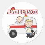 Camisetas y regalos de la ambulancia etiqueta redonda