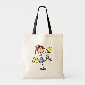 Camisetas y regalos de la animadora de la lavanda bolsa tela barata