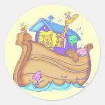 Camisetas y regalos de la arca de Noahs de los niñ Pegatinas
