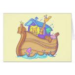 Camisetas y regalos de la arca de Noahs de los niñ Tarjetas