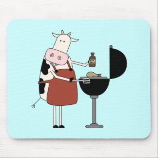 Camisetas y regalos de la barbacoa de la vaca alfombrilla de ratones