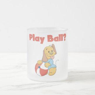 Camisetas y regalos de la bola del juego taza de cristal