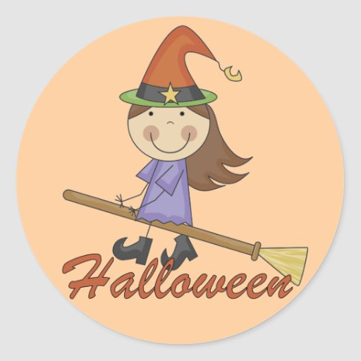 Camisetas y regalos de la bruja de Halloween Etiquetas Redondas