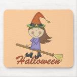 Camisetas y regalos de la bruja de Halloween Alfombrilla De Ratones