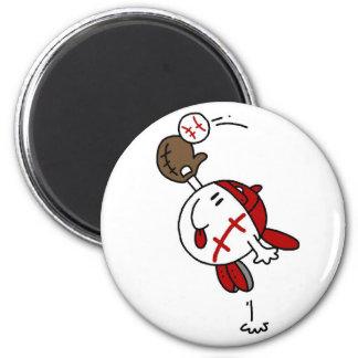 Camisetas y regalos de la captura del béisbol imanes de nevera