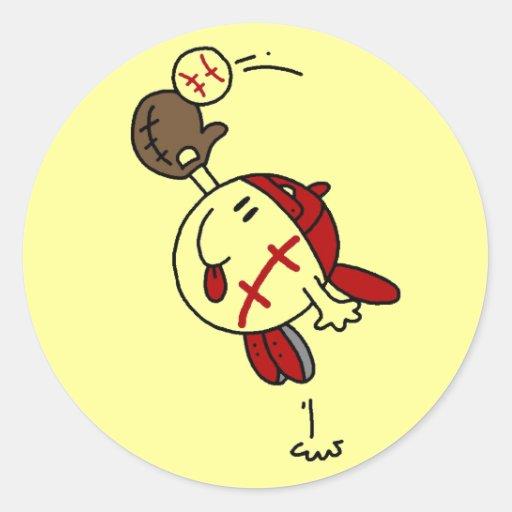 Camisetas y regalos de la captura del béisbol pegatina redonda