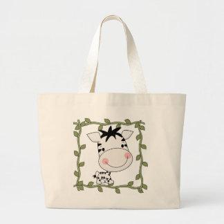 Camisetas y regalos de la cebra del bebé bolsa tela grande