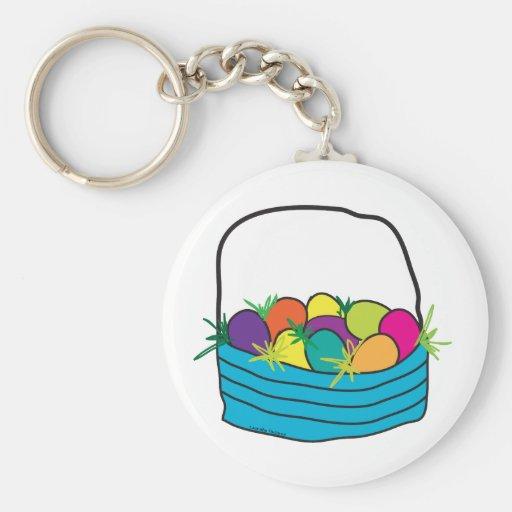 Camisetas y regalos de la cesta de Pascua Llavero Redondo Tipo Pin