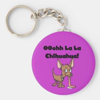 Camisetas y regalos de la chihuahua del La del La Llavero Redondo Tipo Pin