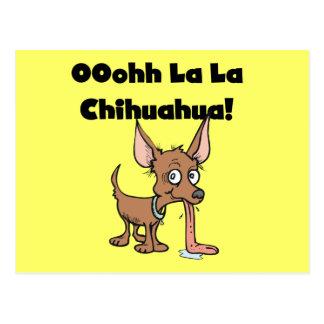 Camisetas y regalos de la chihuahua del La del La Postales