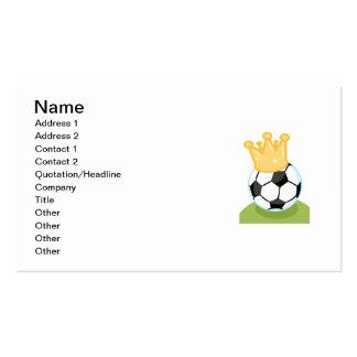 Camisetas y regalos de la corona del balón de fútb tarjetas de visita