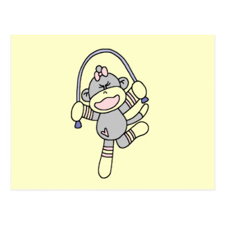 Camisetas y regalos de la cuerda de salto del mono postal
