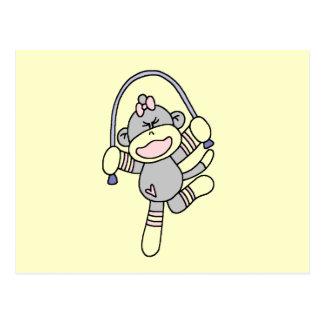 Camisetas y regalos de la cuerda de salto del mono tarjetas postales