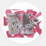 Camisetas y regalos de la cultura de Hip Hop Etiquetas Redondas