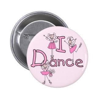 Camisetas y regalos de la danza de la bailarina I Pin Redondo 5 Cm