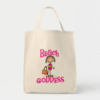Camisetas y regalos de la diosa de la playa bolsa tela para la compra