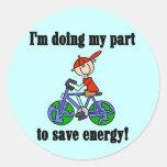 Camisetas y regalos de la energía de la reserva de etiquetas redondas