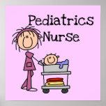 Camisetas y regalos de la enfermera de la pediatrí posters