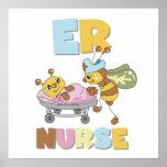 Camisetas y regalos de la enfermera del ER Impresiones