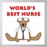 Camisetas y regalos de la enfermera del mundo del  posters