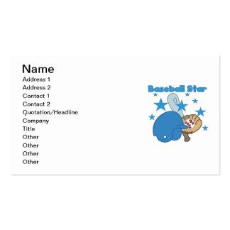 Camisetas y regalos de la estrella de béisbol plantilla de tarjeta personal