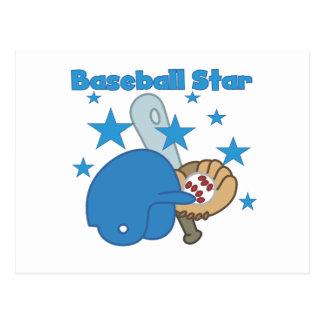Camisetas y regalos de la estrella de béisbol tarjeta postal