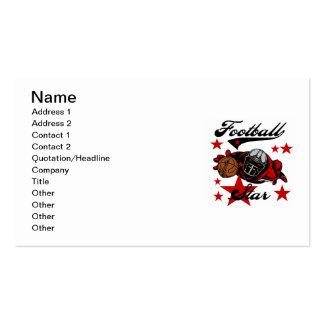 Camisetas y regalos de la estrella de fútbol tarjetas de negocios