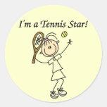 Camisetas y regalos de la estrella de tenis del ch pegatinas