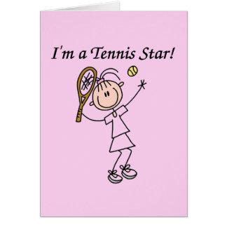Camisetas y regalos de la estrella de tenis del ch tarjeta de felicitación