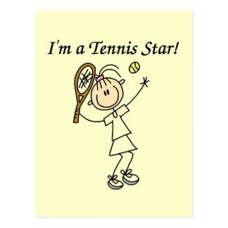 Camisetas y regalos de la estrella de tenis del postales
