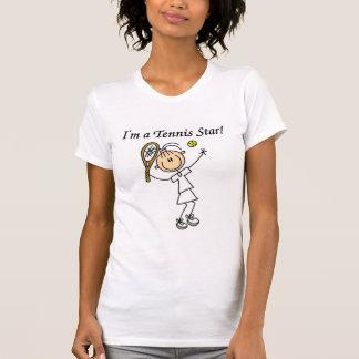 Camisetas y regalos de la estrella de tenis del remera