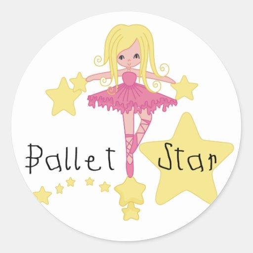 Camisetas y regalos de la estrella del ballet pegatina redonda