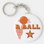 Camisetas y regalos de la estrella del baloncesto llavero personalizado