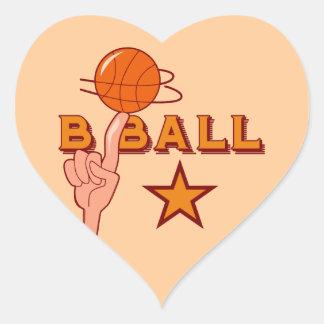 Camisetas y regalos de la estrella del baloncesto calcomania de corazon