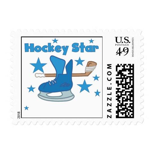 Camisetas y regalos de la estrella del hockey sellos