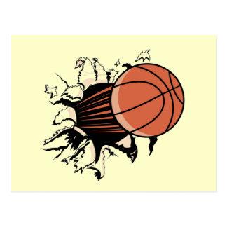 Camisetas y regalos de la explosión del baloncesto tarjetas postales