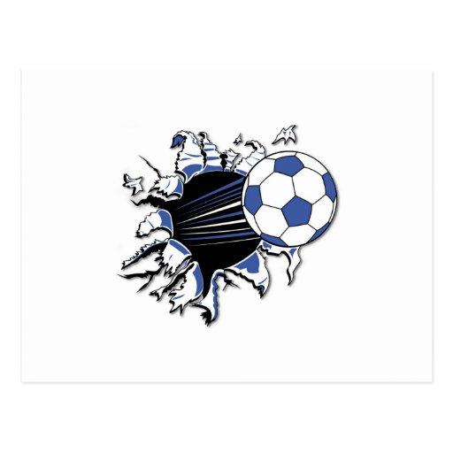 Camisetas y regalos de la explosión del fútbol postales