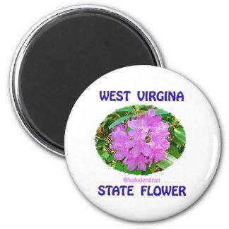 Camisetas y regalos de la flor de estado de Virgin Imanes De Nevera