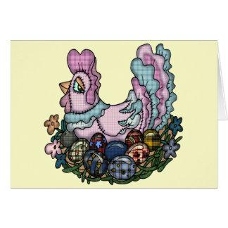 Camisetas y regalos de la gallina de Pascua Tarjeta De Felicitación