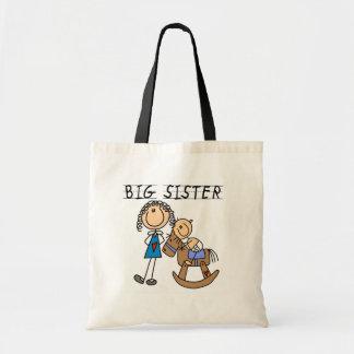 Camisetas y regalos de la hermana grande del cabal bolsas lienzo