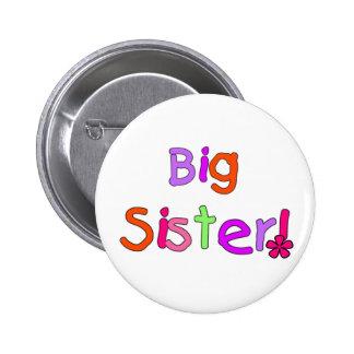 Camisetas y regalos de la hermana grande pin redondo de 2 pulgadas
