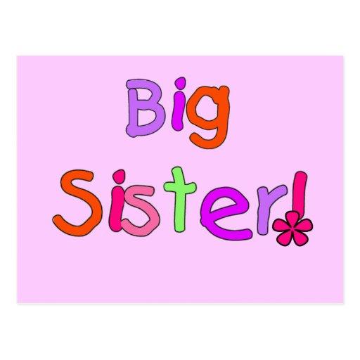 Camisetas y regalos de la hermana grande postal