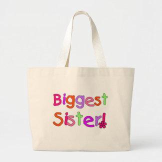 Camisetas y regalos de la hermana más grande bolsas