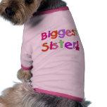 Camisetas y regalos de la hermana más grande ropa perro