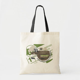Camisetas y regalos de la invasión del montar a ca bolsas lienzo