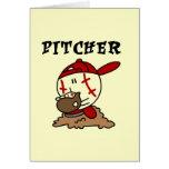 Camisetas y regalos de la jarra del béisbol tarjeta
