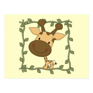 Camisetas y regalos de la jirafa del bebé tarjeta postal