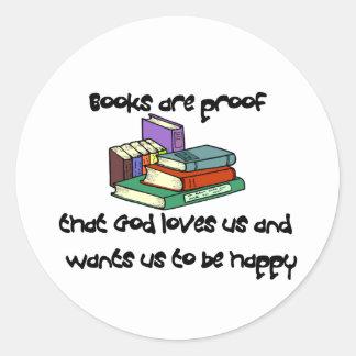 Camisetas y regalos de la lectura etiqueta redonda
